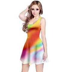 Blur Color Colorful Background Reversible Sleeveless Dress