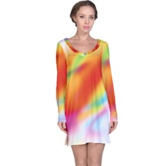 Blur Color Colorful Background Long Sleeve Nightdress