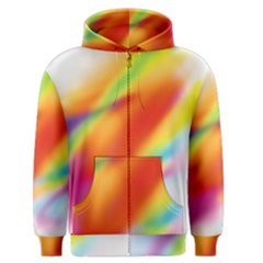 Blur Color Colorful Background Men s Zipper Hoodie