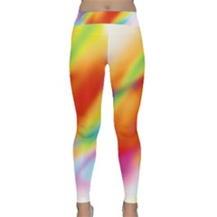Blur Color Colorful Background Classic Yoga Leggings