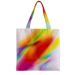Blur Color Colorful Background Zipper Grocery Tote Bag