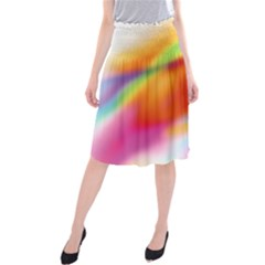 Blur Color Colorful Background Midi Beach Skirt