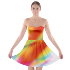 Blur Color Colorful Background Strapless Bra Top Dress