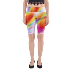 Blur Color Colorful Background Yoga Cropped Leggings