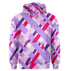 Diagonal Gingham Geometric Men s Pullover Hoodie