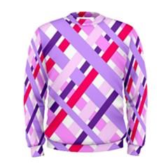 Diagonal Gingham Geometric Men s Sweatshirt