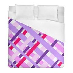 Diagonal Gingham Geometric Duvet Cover (Full/ Double Size)