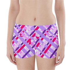 Diagonal Gingham Geometric Boyleg Bikini Wrap Bottoms