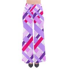 Diagonal Gingham Geometric Pants