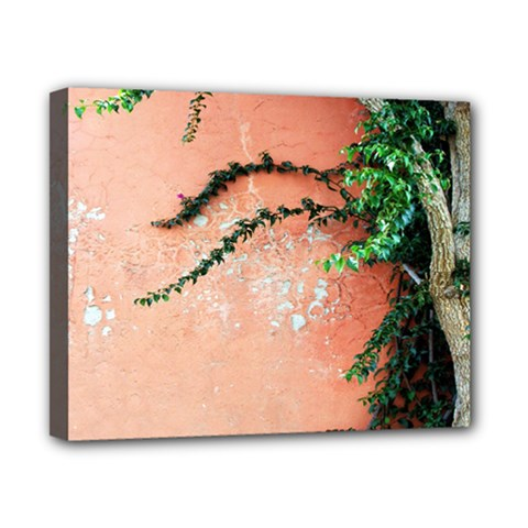 Background Stone Wall Pink Tree Canvas 10  x 8