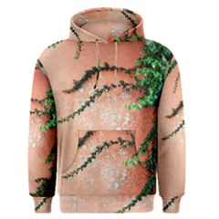Background Stone Wall Pink Tree Men s Pullover Hoodie