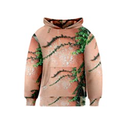 Background Stone Wall Pink Tree Kids  Pullover Hoodie
