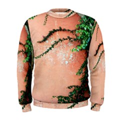 Background Stone Wall Pink Tree Men s Sweatshirt