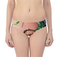 Background Stone Wall Pink Tree Hipster Bikini Bottoms