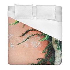 Background Stone Wall Pink Tree Duvet Cover (Full/ Double Size)