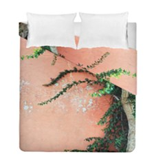 Background Stone Wall Pink Tree Duvet Cover Double Side (Full/ Double Size)