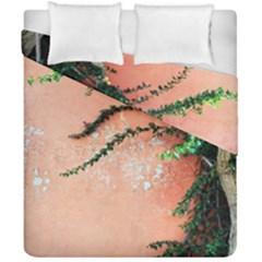 Background Stone Wall Pink Tree Duvet Cover Double Side (California King Size)