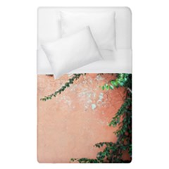 Background Stone Wall Pink Tree Duvet Cover (Single Size)