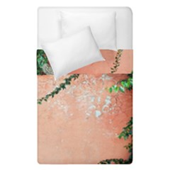 Background Stone Wall Pink Tree Duvet Cover Double Side (Single Size)