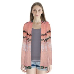 Background Stone Wall Pink Tree Cardigans