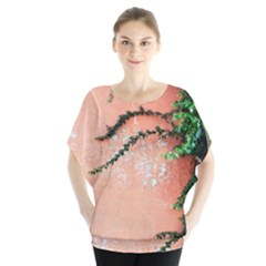 Background Stone Wall Pink Tree Blouse