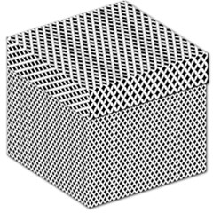 Diamond Black White Shape Abstract Storage Stool 12