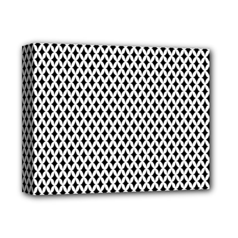 Diamond Black White Shape Abstract Deluxe Canvas 14  x 11