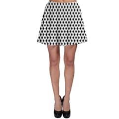 Diamond Black White Shape Abstract Skater Skirt