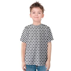 Diamond Black White Shape Abstract Kids  Cotton Tee