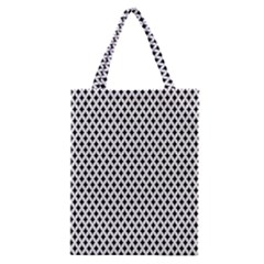 Diamond Black White Shape Abstract Classic Tote Bag
