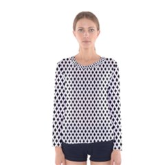 Diamond Black White Shape Abstract Women s Long Sleeve Tee