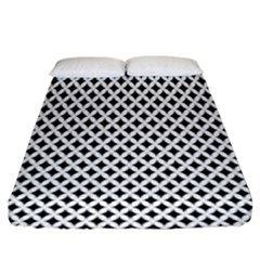 Diamond Black White Shape Abstract Fitted Sheet (King Size)