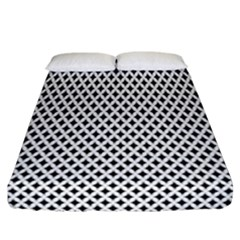 Diamond Black White Shape Abstract Fitted Sheet (California King Size)