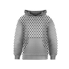 Diamond Black White Shape Abstract Kids  Pullover Hoodie