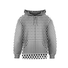 Diamond Black White Shape Abstract Kids  Zipper Hoodie
