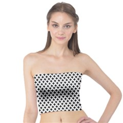 Diamond Black White Shape Abstract Tube Top
