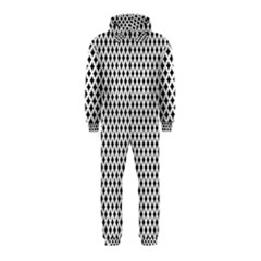 Diamond Black White Shape Abstract Hooded Jumpsuit (Kids)