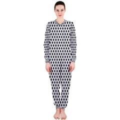 Diamond Black White Shape Abstract OnePiece Jumpsuit (Ladies)