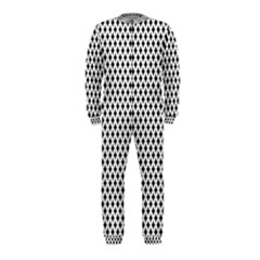Diamond Black White Shape Abstract OnePiece Jumpsuit (Kids)