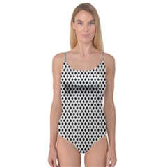 Diamond Black White Shape Abstract Camisole Leotard