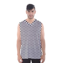 Diamond Black White Shape Abstract Men s Basketball Tank Top