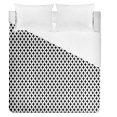 Diamond Black White Shape Abstract Duvet Cover (Queen Size)