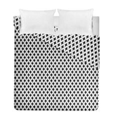 Diamond Black White Shape Abstract Duvet Cover Double Side (Full/ Double Size)
