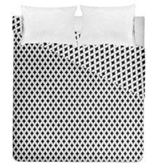 Diamond Black White Shape Abstract Duvet Cover Double Side (Queen Size)