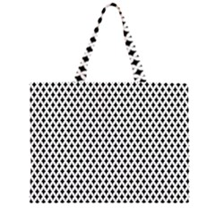 Diamond Black White Shape Abstract Large Tote Bag