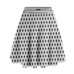 Diamond Black White Shape Abstract High Waist Skirt