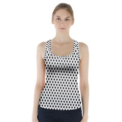 Diamond Black White Shape Abstract Racer Back Sports Top