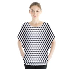 Diamond Black White Shape Abstract Blouse