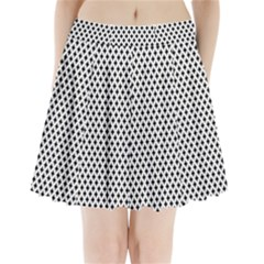 Diamond Black White Shape Abstract Pleated Mini Skirt