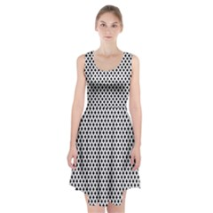 Diamond Black White Shape Abstract Racerback Midi Dress